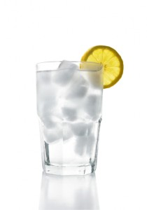 Ice Water with Lemon (clipping path)