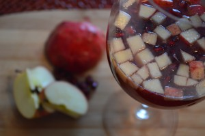 Apple sangria mocktail