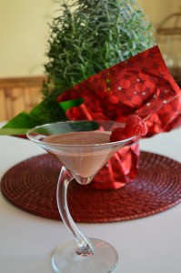 Chocolate Raspberry Martini Mocktail