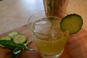 Cucumber Basil Garden Party Mocktail
