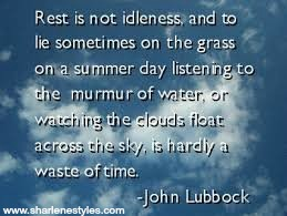 rest is not idleness quote on prioritizing self-care